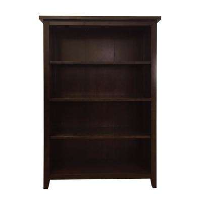 Brookdale Dark Walnut 4-Shelf Standard Bookcase