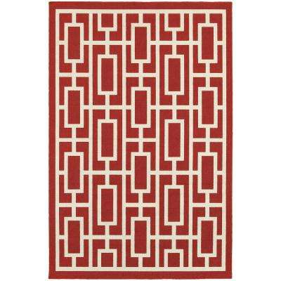 Portal Red 5 ft. x 8 ft. Indoor/Outdoor Area Rug