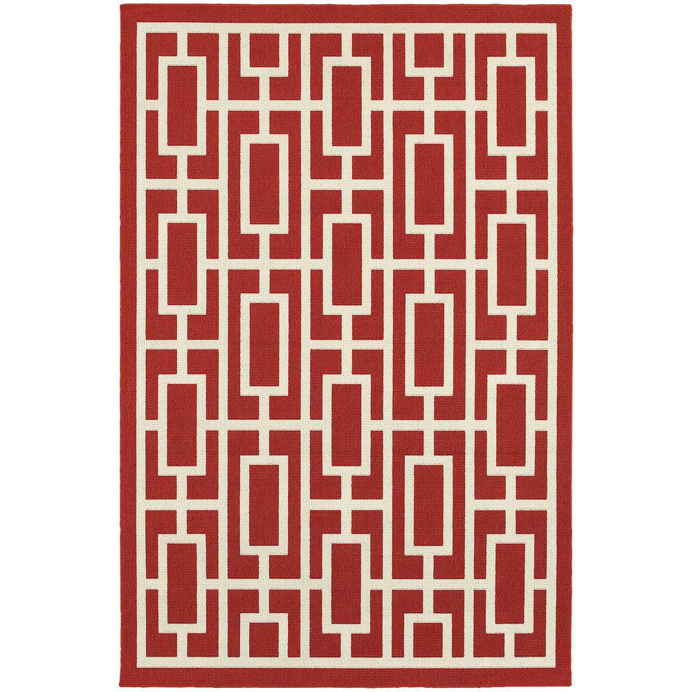 Home Decorators Collection Portal Red 6 Ft 7 In X 9 Ft 6 In Indoor Outdoor Area Rug