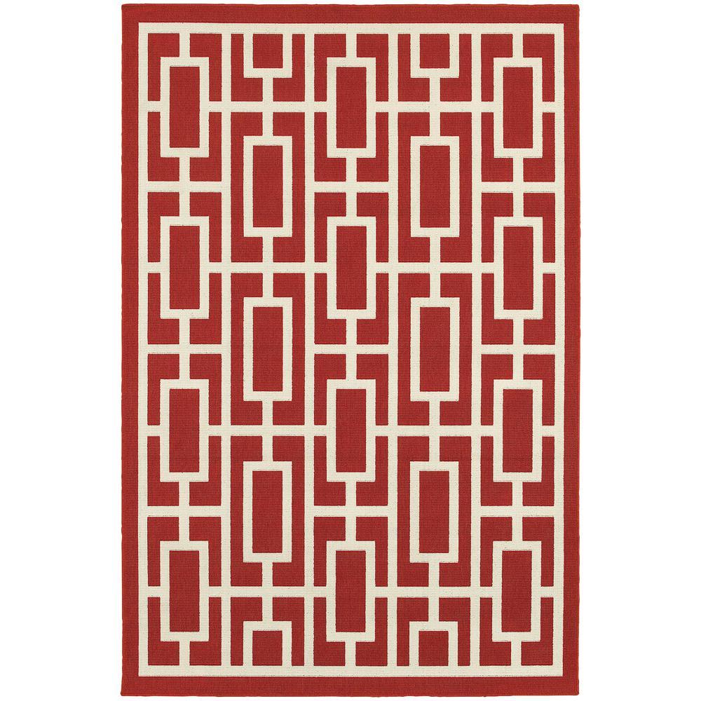 Portal Red 9 ft. x 13 ft. Indoor/Outdoor Area Rug