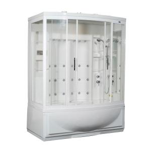 Aston ZAA210 68 inch x 41 inch x 86 inch Steam Shower Right Hand Enclosure Kit with Whirlpool Bath in White by Aston