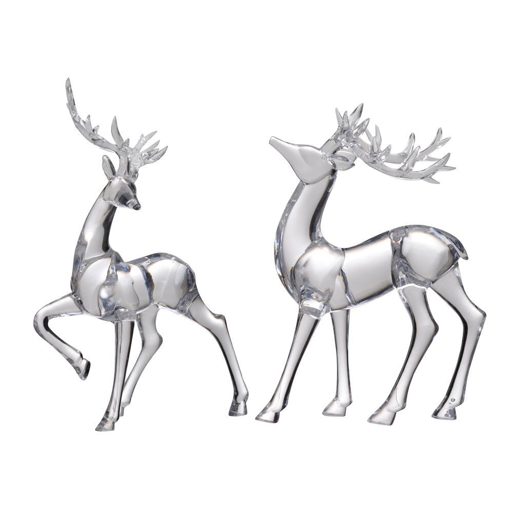 Lovell Clear Reindeer Decor Accent (Set of 2)