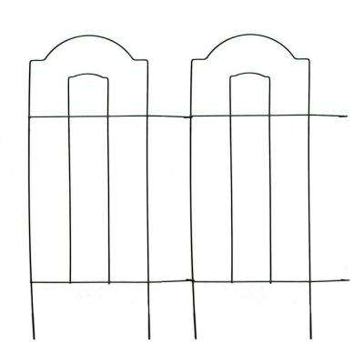 28 in. Cathedral Steel Wire Folding Garden Fence