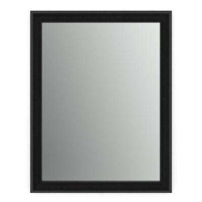 23 in. x 33 in. (S2) Rectangular Framed Mirror with Standard Glass and Easy-Cleat Flush Mount Hardware in Matte Black