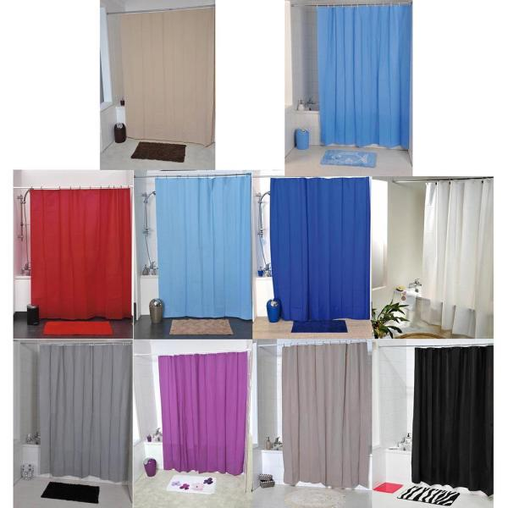 Azure Blue Bath Shower Curtain