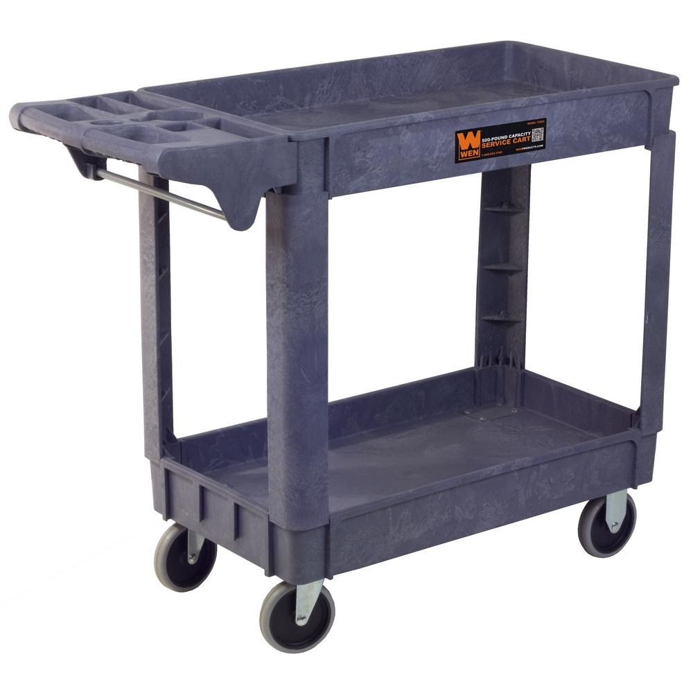 WEN 500-Pound Capacity 40 by 17 in. Service Utility Cart