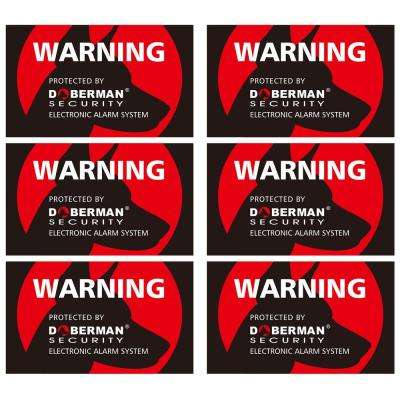 Home Security Stickers, Red