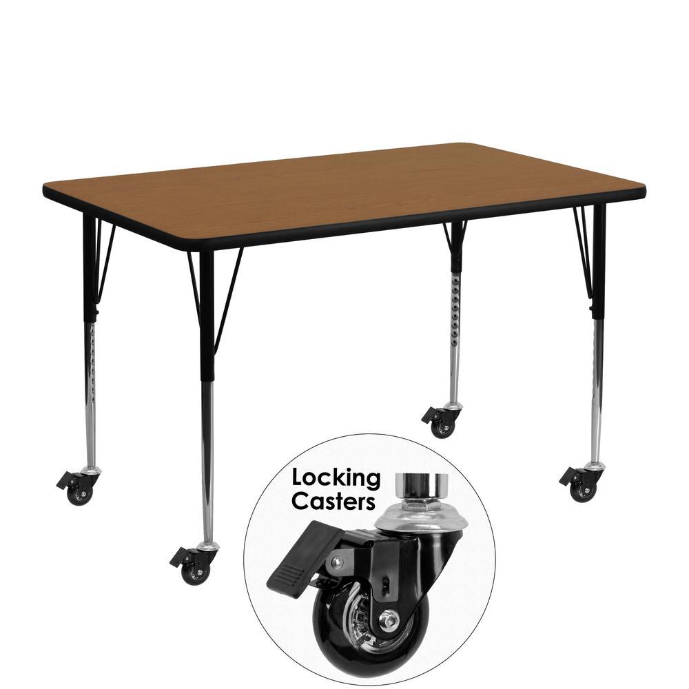 Flash Furniture Oak Kids Table XUA2448RECOKTAC