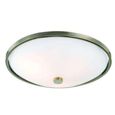 Blanko Collection 3-Light Antique Brass Flushmount