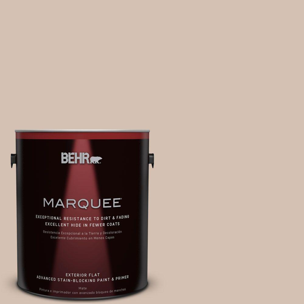 Behr marquee home decorators collection 1 gal hdc ac 04 avenue tan flat exterior paint 445001 - Behr home decorators collection image ...