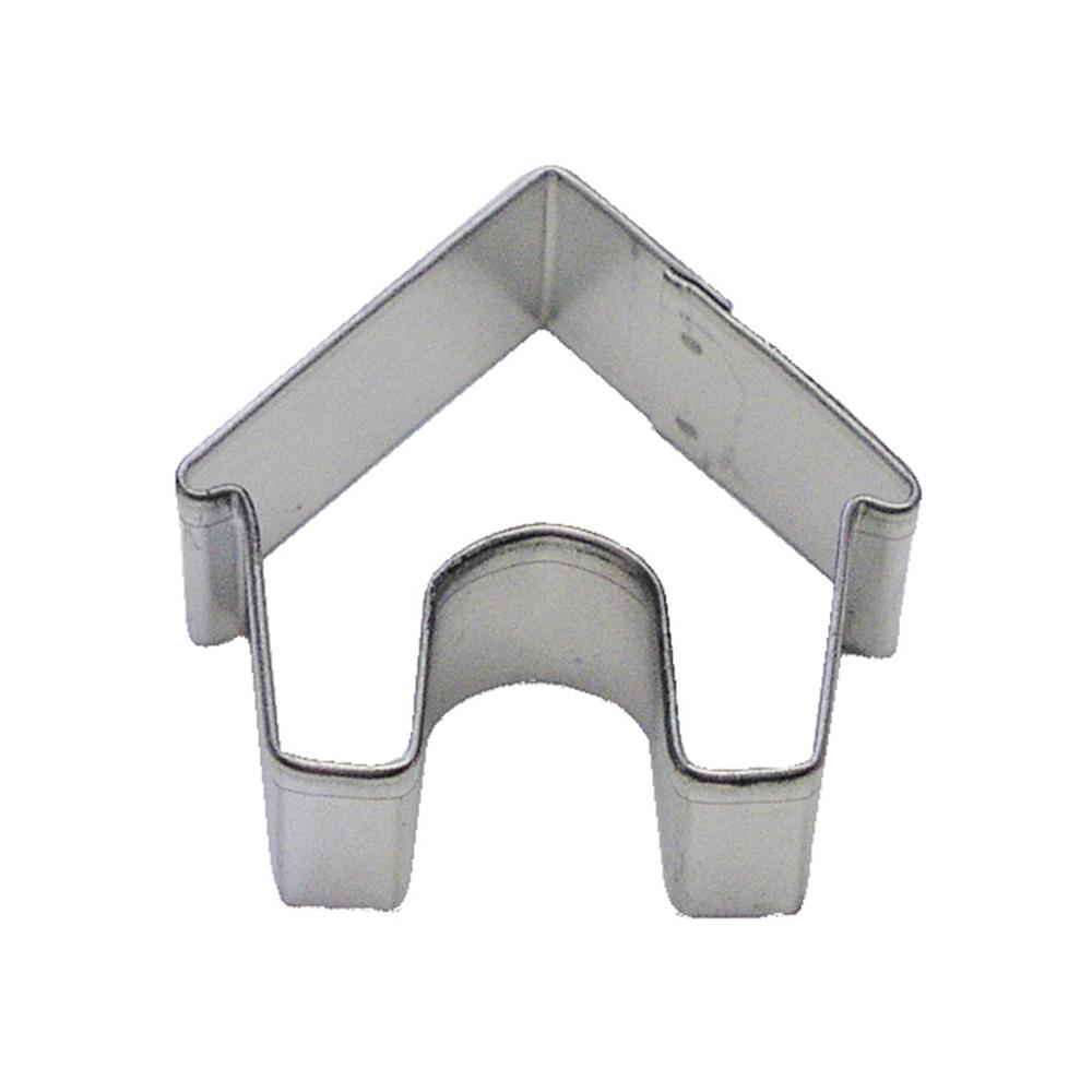12-Piece Mini Dog House Tinplated Steel Cookie Cutter & Recipe