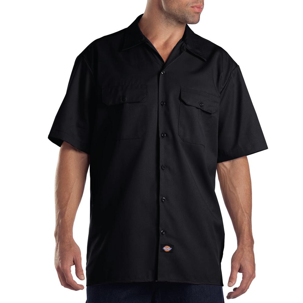 Dickies Short Sleeve Black Work Shirt