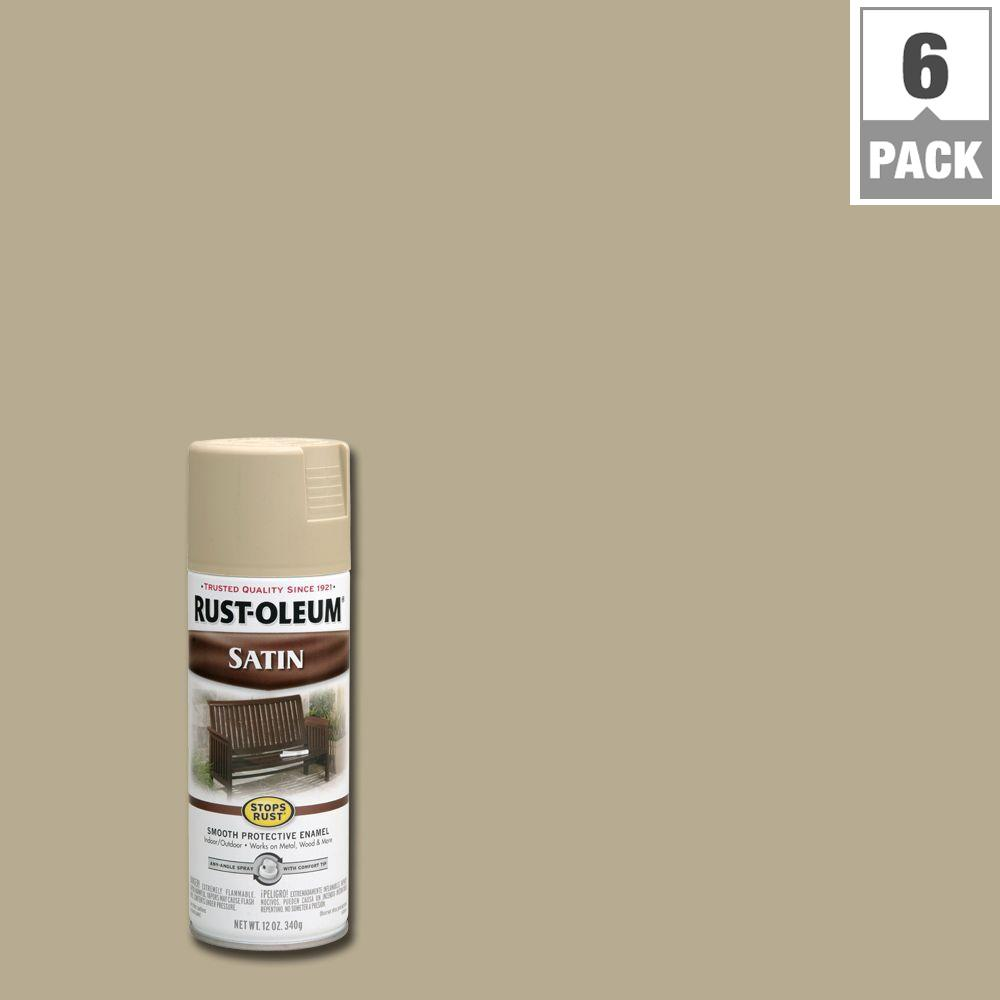 12 oz. Protective Enamel Satin Putty Spray Paint (6-Pack)