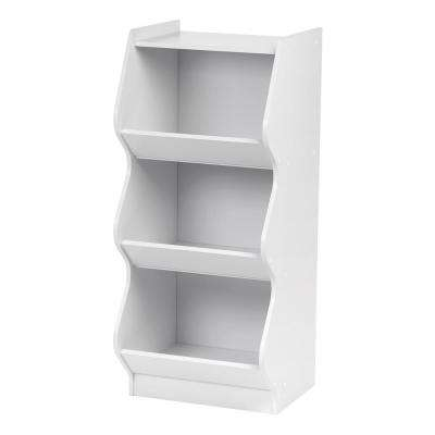 White 3-Tier Curved Edge Storage Shelf