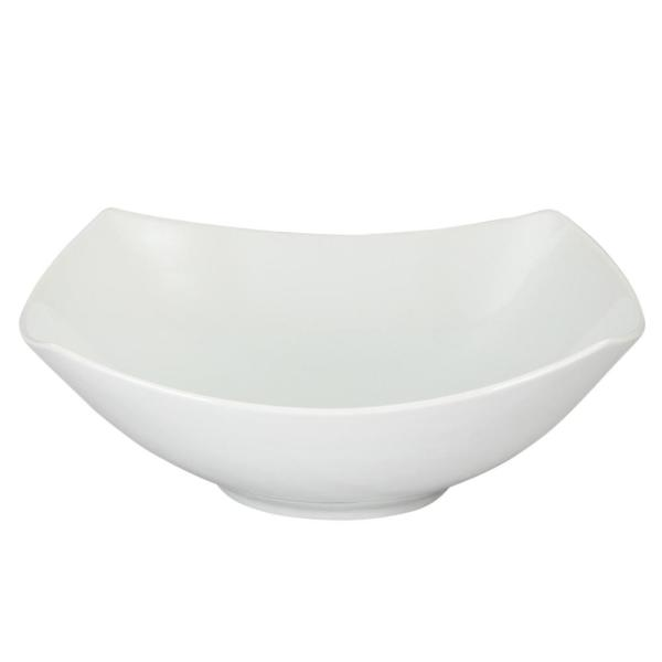 GIBSON elite Gracious Dining 11 in. White Square Serving Bowl 985100481M