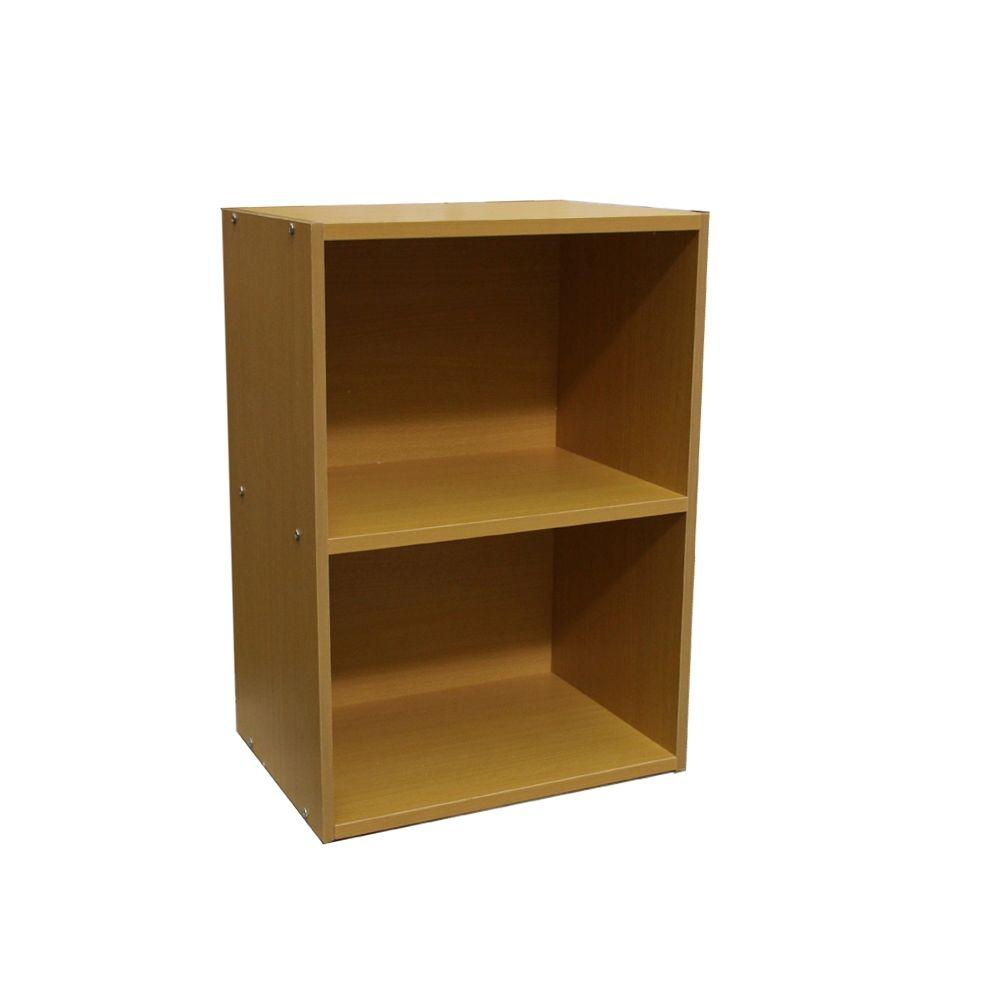 Home Decorators Collection Holbrook Natural Open Bookcase 1918000950 The Home Depot