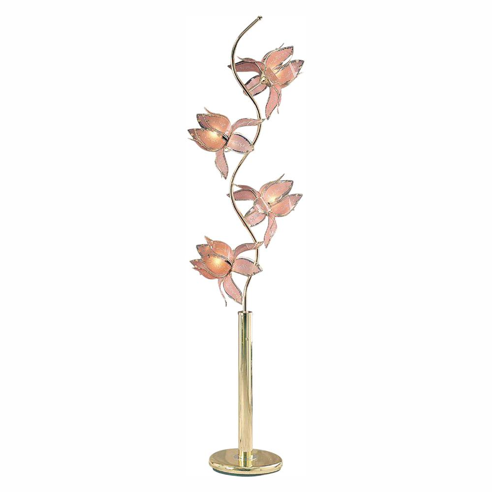ORE International 73 in. Pink and Gold Floor Lamp-K9334G ...
