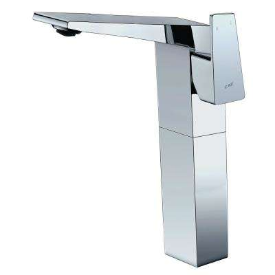 AB1475-PC Single Hole Single-Handle Bathroom Faucet in Polished Chrome