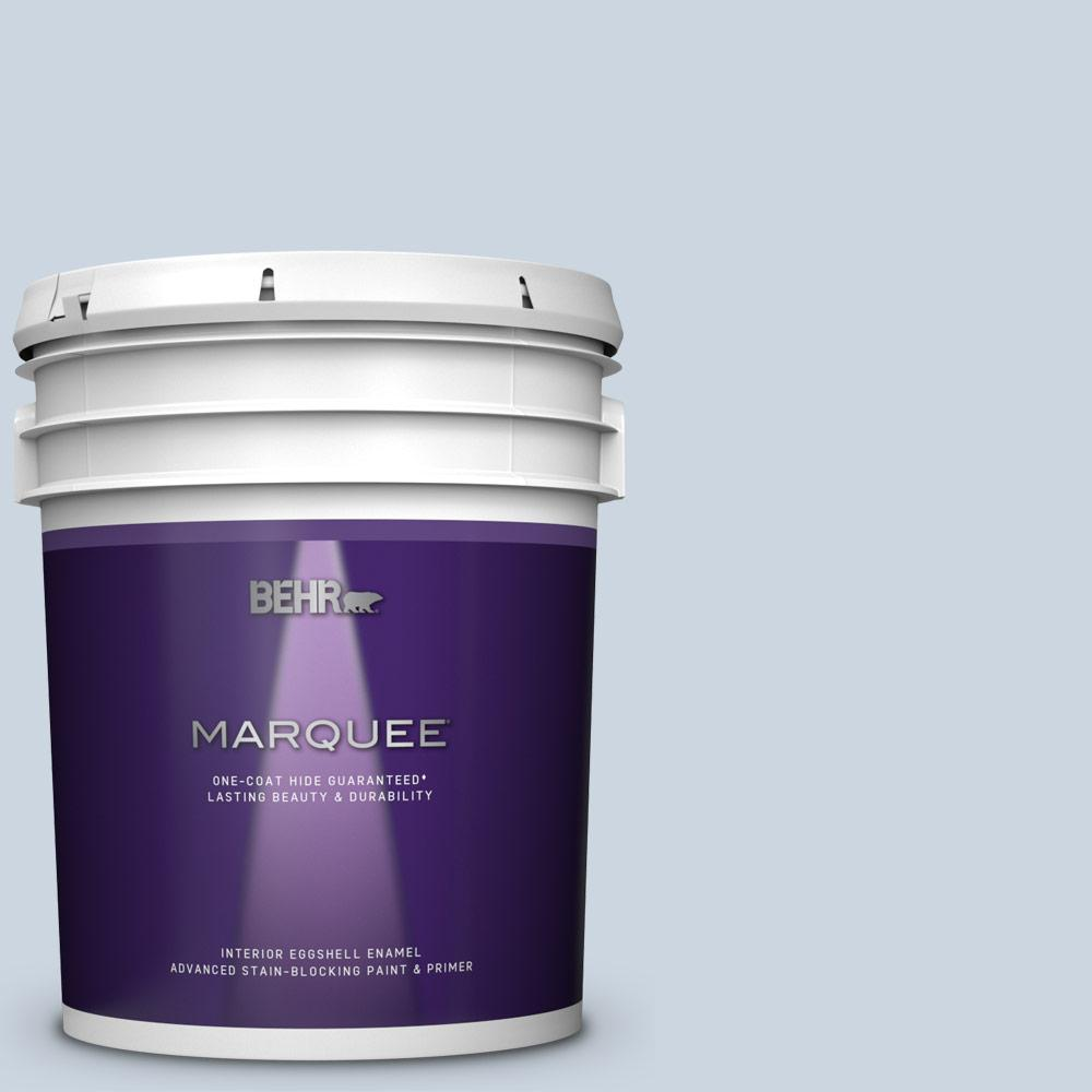 Behr Marquee 5 Gal Mq3 60 Blue Gossamer One Coat Hide Eggshell Enamel Interior Paint And Primer In One 245005 The Home Depot