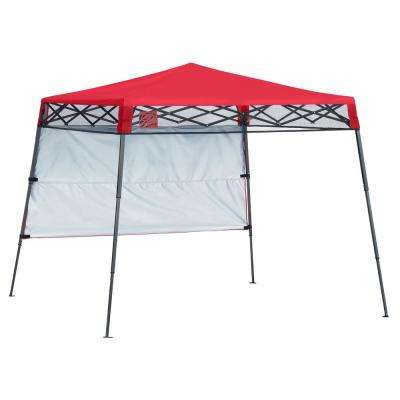 Quik Shade 7 Ft X 7 Ft Red Slant Leg Canopy 167519ds The Home Depot