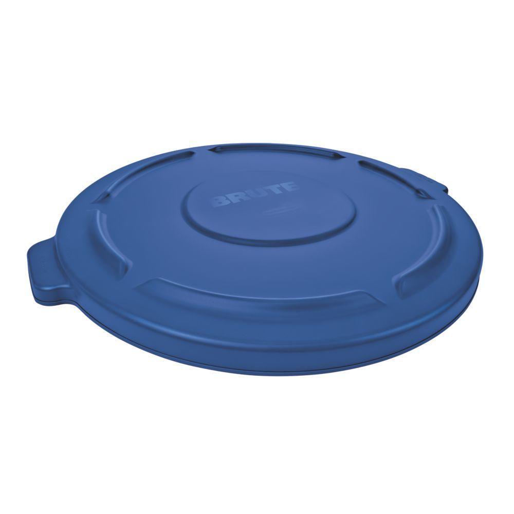 Brute 44 Gal. Blue Round Trash Can Lid