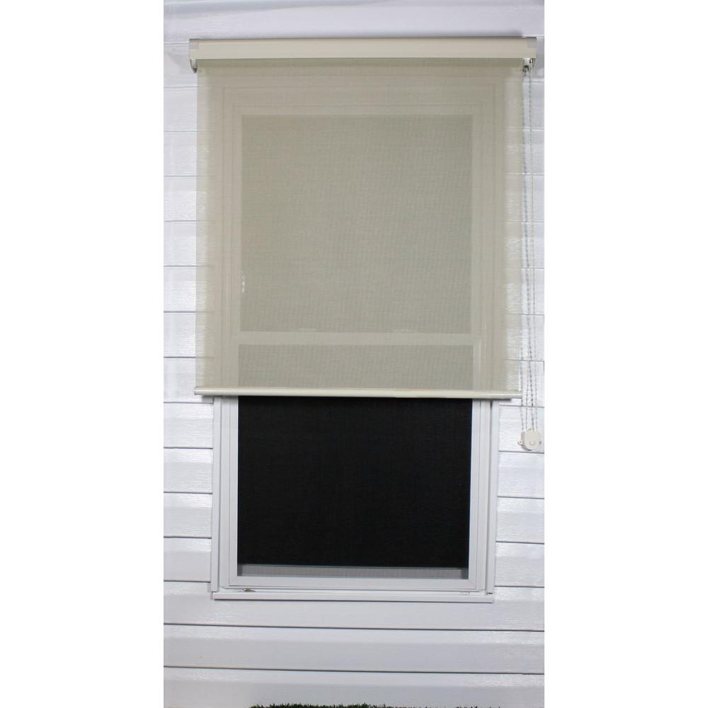 Coolaroo Tan Exterior Roller Shade, 80% UV Block (Price Varies by Size)-DISCONTINUED