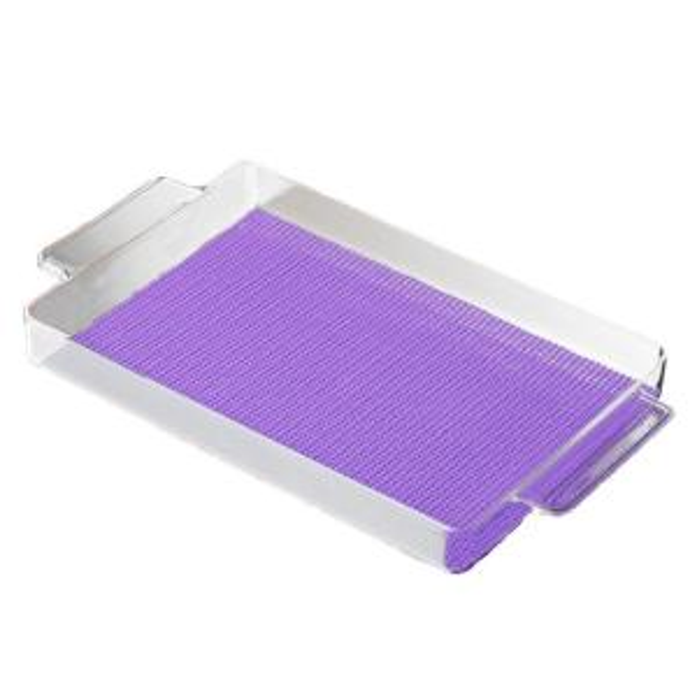 Kraftware Fishnet Rectangular Serving Tray in Purple by Kraftware