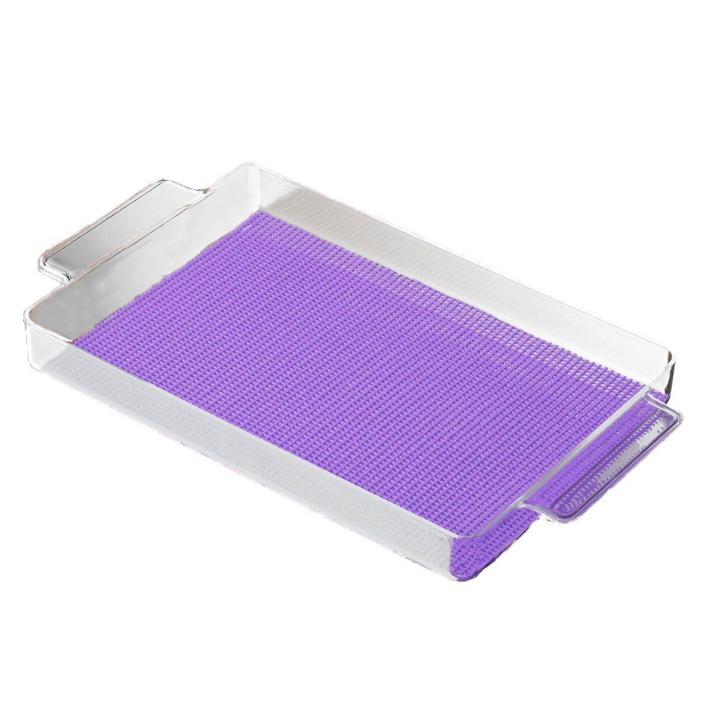 Fishnet Rectangular Serving Tray in Purple