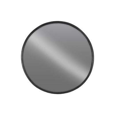 Round Black Tarnished Wall Mirror