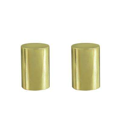 1-1/4 in. Brass Plated Steel Lamp Finial (2-Pack)
