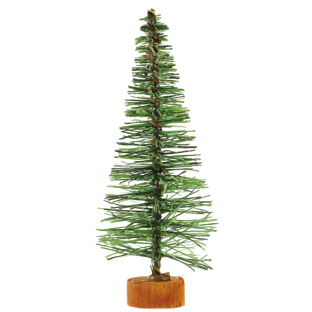 Home Depot Small Christmas Trees: 5 In. Green Artificial Village Christmas Tree-31466583