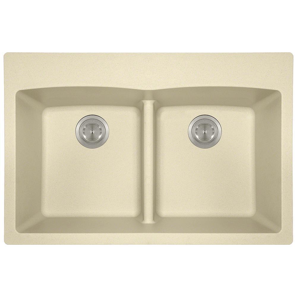 Beige kitchen sinks kitchen the home depot 5 hole equal double bowl kitchen sink workwithnaturefo
