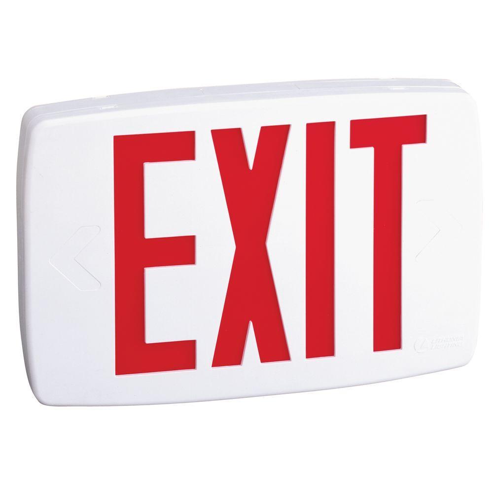 Quantum Plastic White LED Emergency Exit Sign