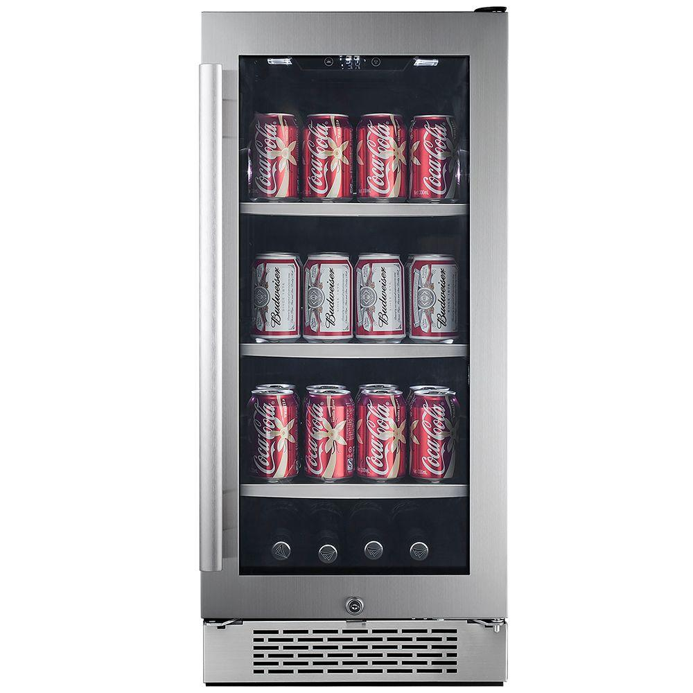 Avallon 86 Can 15 In Built In Beverage Cooler In Black