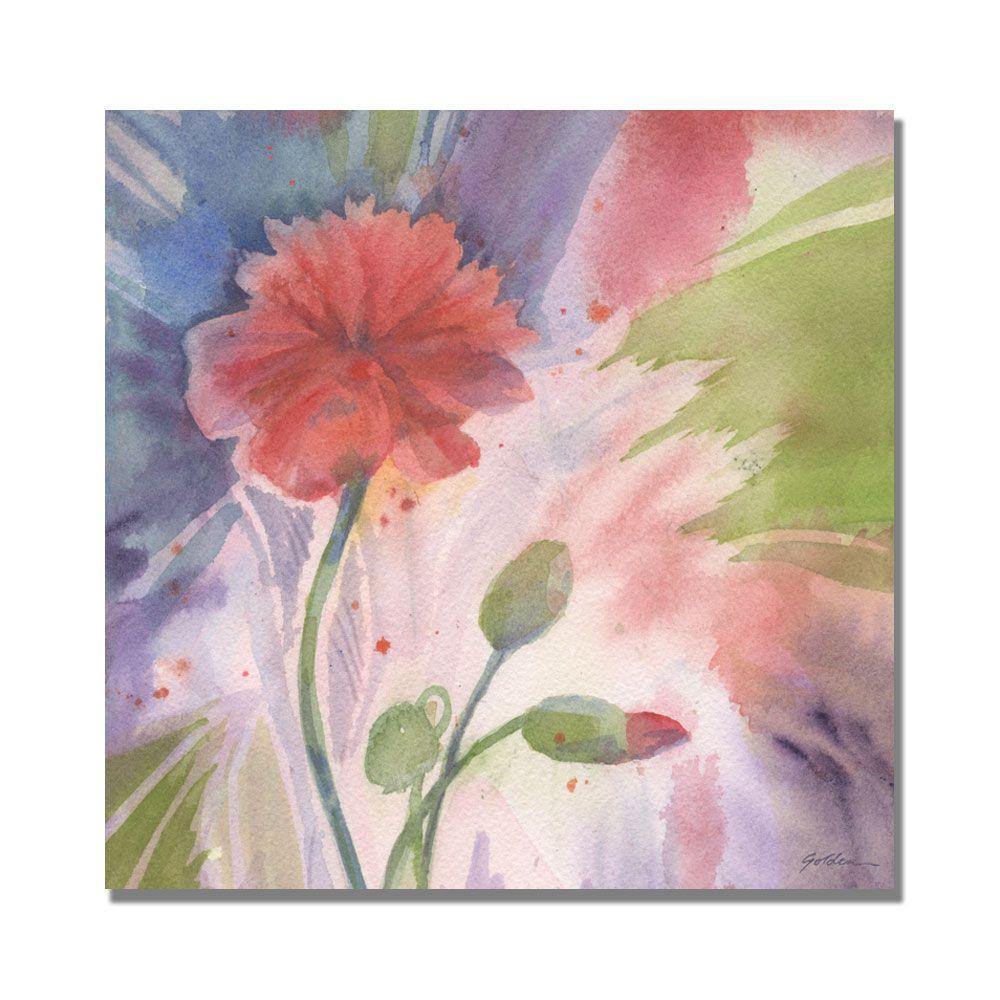 null 35 in. x 35 in. Budding Poppy Canvas Art