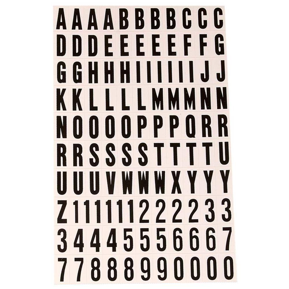 HYKO In SelfAdhesive Vinyl Letters And Numbers SetMM The - Self adhesive vinyl letters