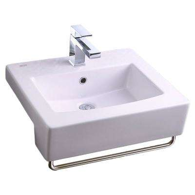 Boxe 19.75 in. Center Hole Only Countertop Bathroom Sink in White