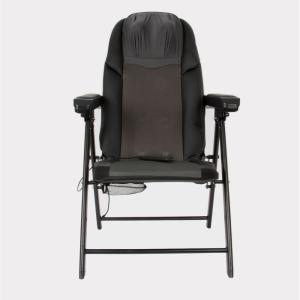 Lifesmart Calla Casa Black Portable Large Folding Massage Chair with Heat and Rolling Massage Includes Remote