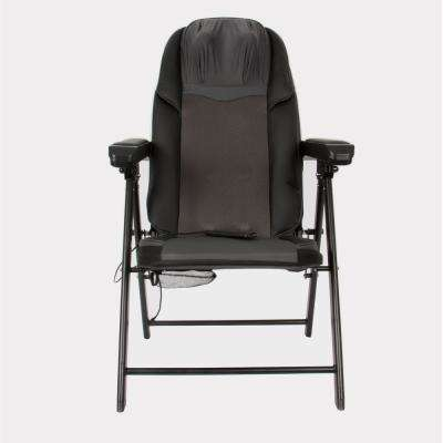 Calla Casa Black Portable Large Folding Massage Chair with Heat and Rolling Massage Includes Remote