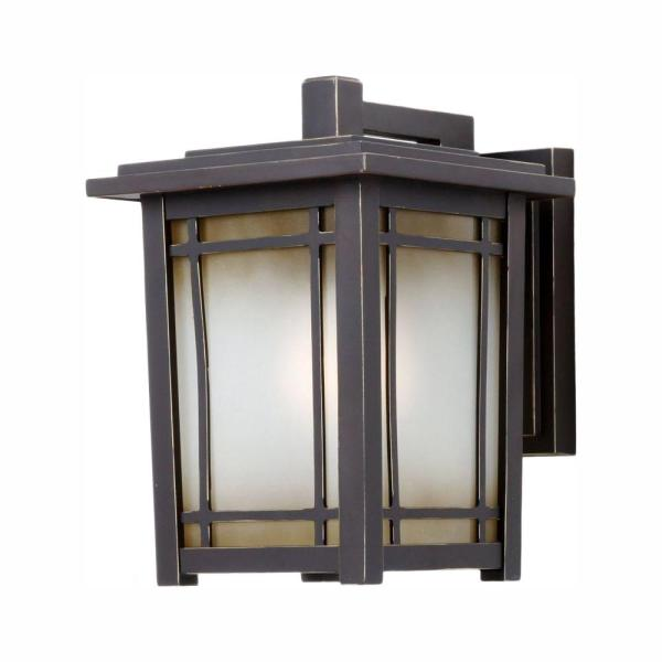 Port Oxford 1-Light Oil Rubbed Chestnut Outdoor Wall Lantern Sconce