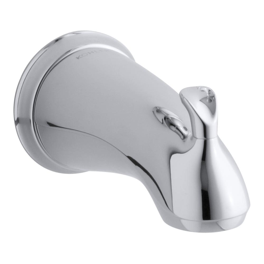 KOHLER Forte Sculpted Diverter Bath Spout in Polished Chrome with ...