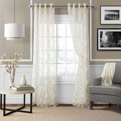 Sonata Trellis Sheer Window Curtain