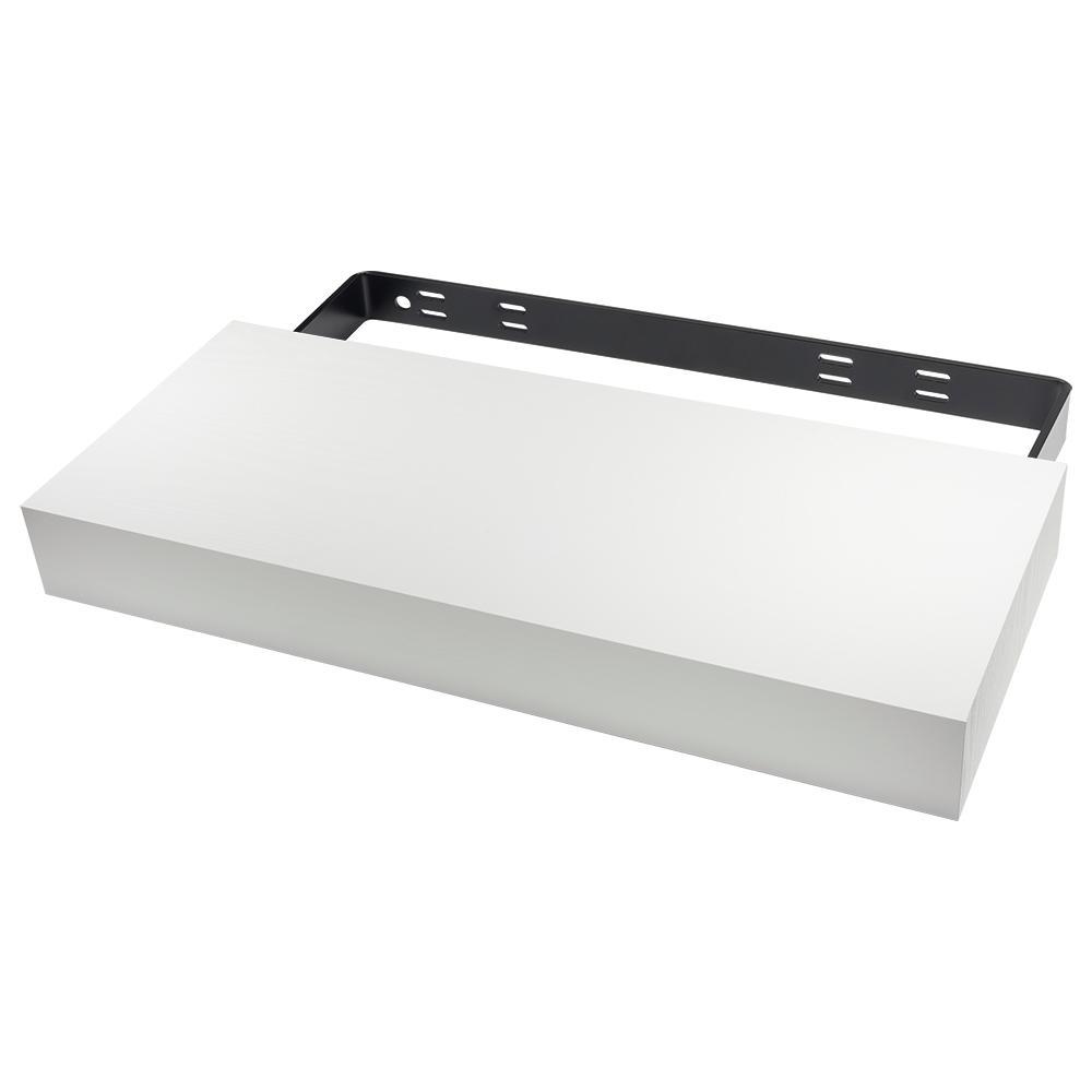 36 in. x 10 in. x 3 in. White Floating Shelf Kit