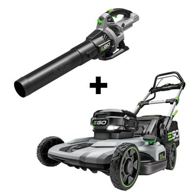 56V Lith-Ion Cordless Electric 21 in. Self Propelled Mower & 530 CFM Blower Combo (2-Tools) 7.5 Ah Battery and Charger