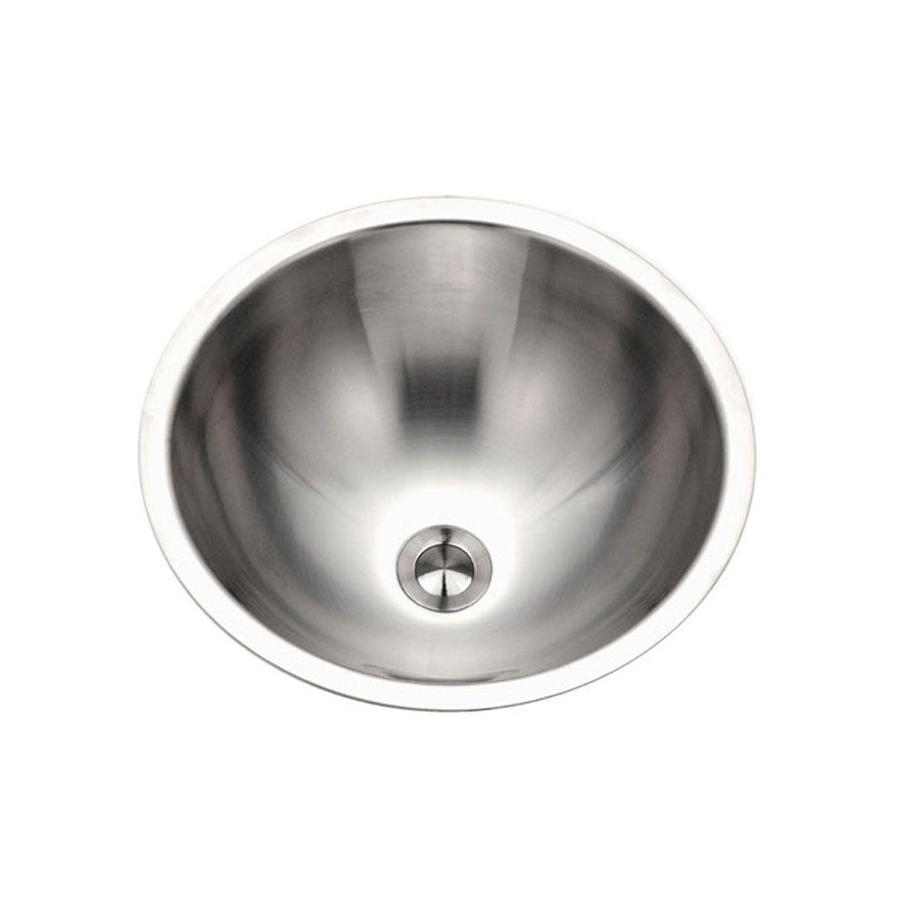 Opus Conical 16.75 in. Top Mount Single Bowl Lavatory Sink in