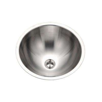 Opus Conical 16.75 in. Top Mount Single Bowl Lavatory Sink in Stainless Steel