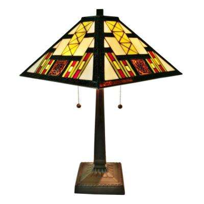 21 In. Tiffany Style Multicolored Mission Table Lamp · Amora ...