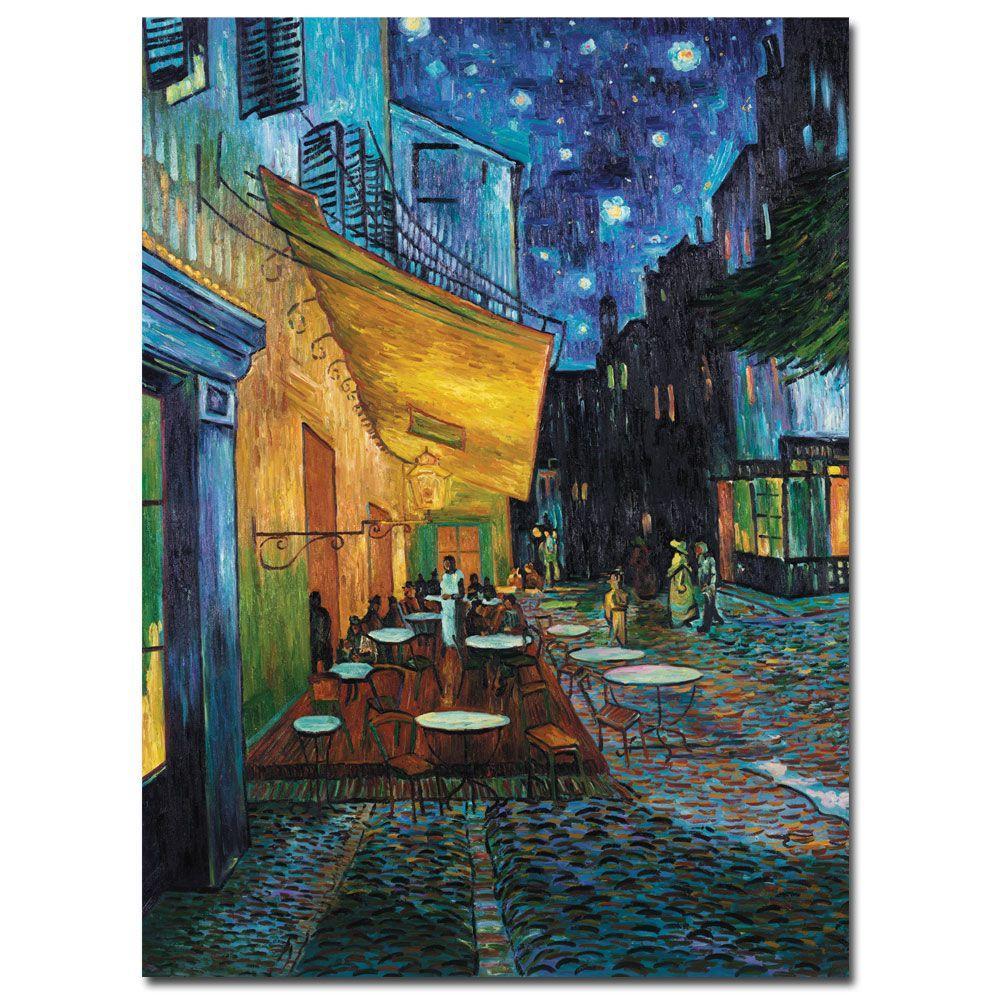 14 in. x 19 in. Cafe Terrace Canvas Art