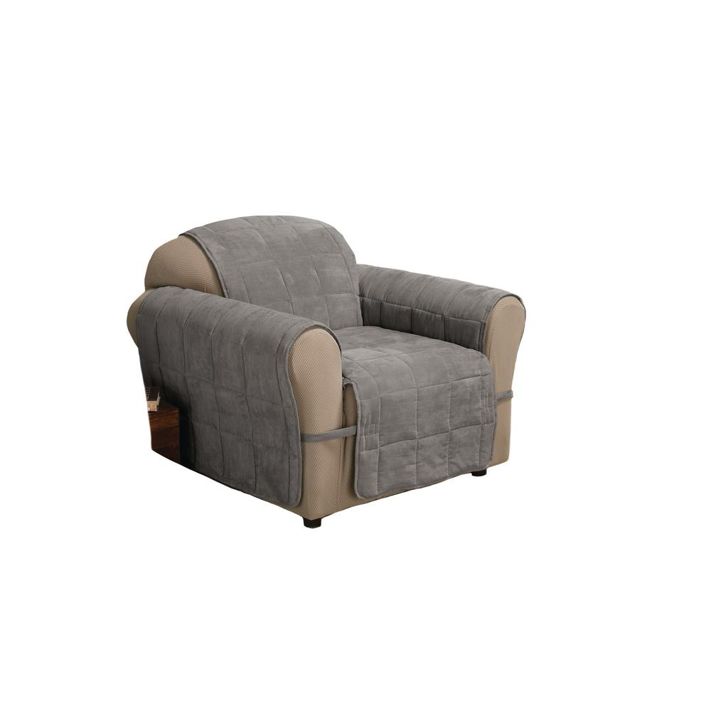 Grey Ultimate Faux Suede Chair Protector