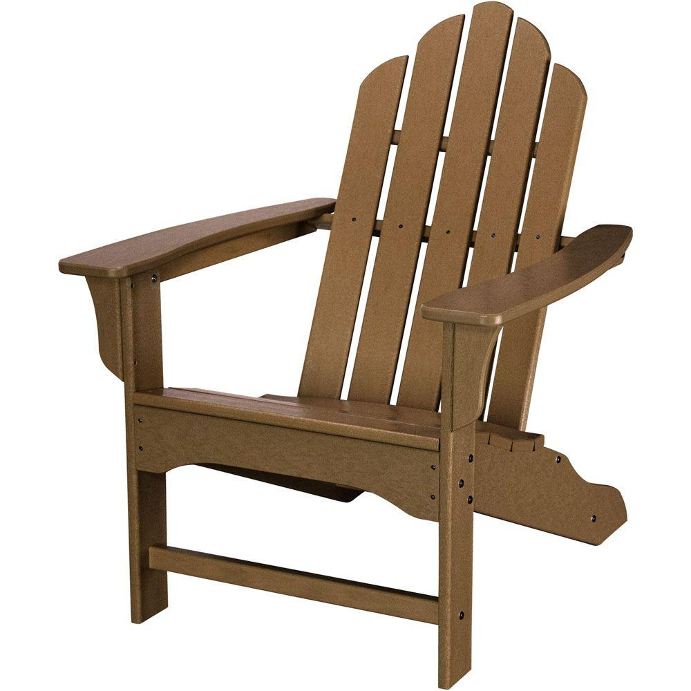 All Weather Patio Adirondack Chair In Teak